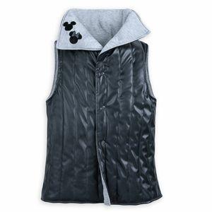 Disney Parks Women's Vegan Leather Vest Mickey Minnie ''Love'' Vest Size Mediums